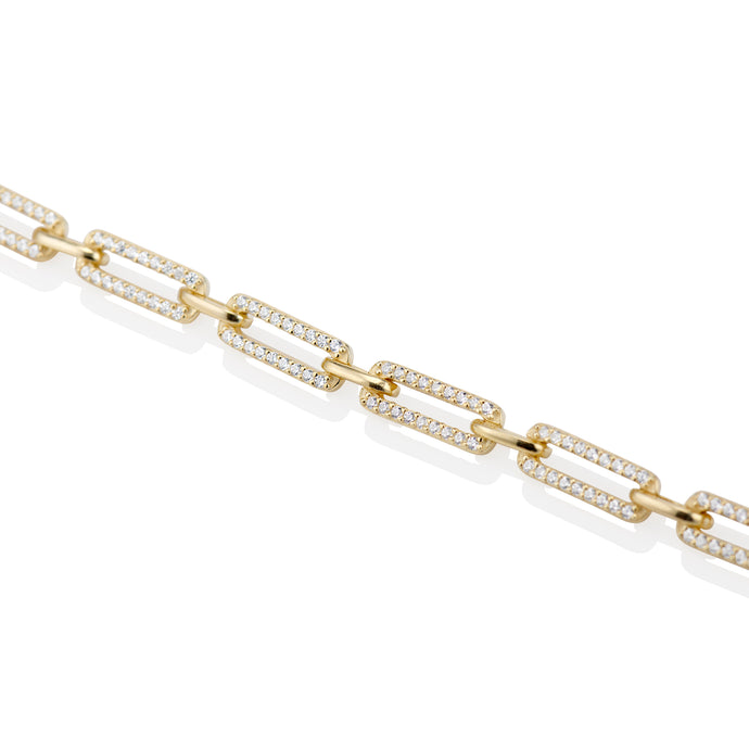 Pave Oval Anklet - essentialsjewels.com