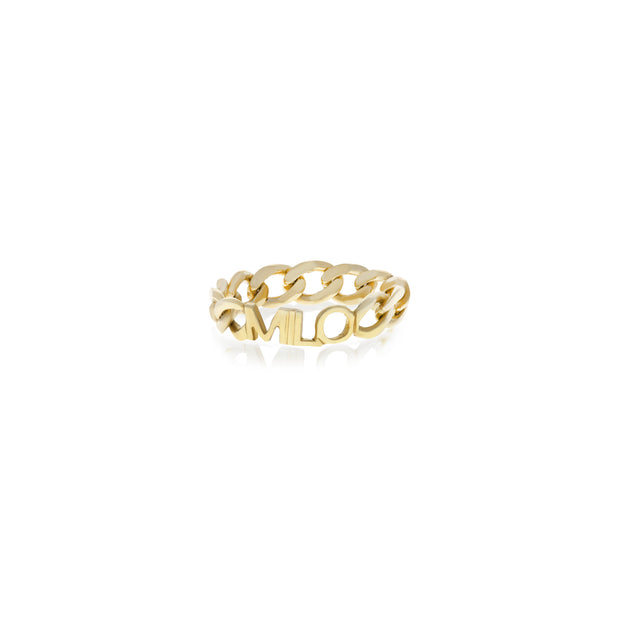 Chain Name Ring - essentialsjewels.com