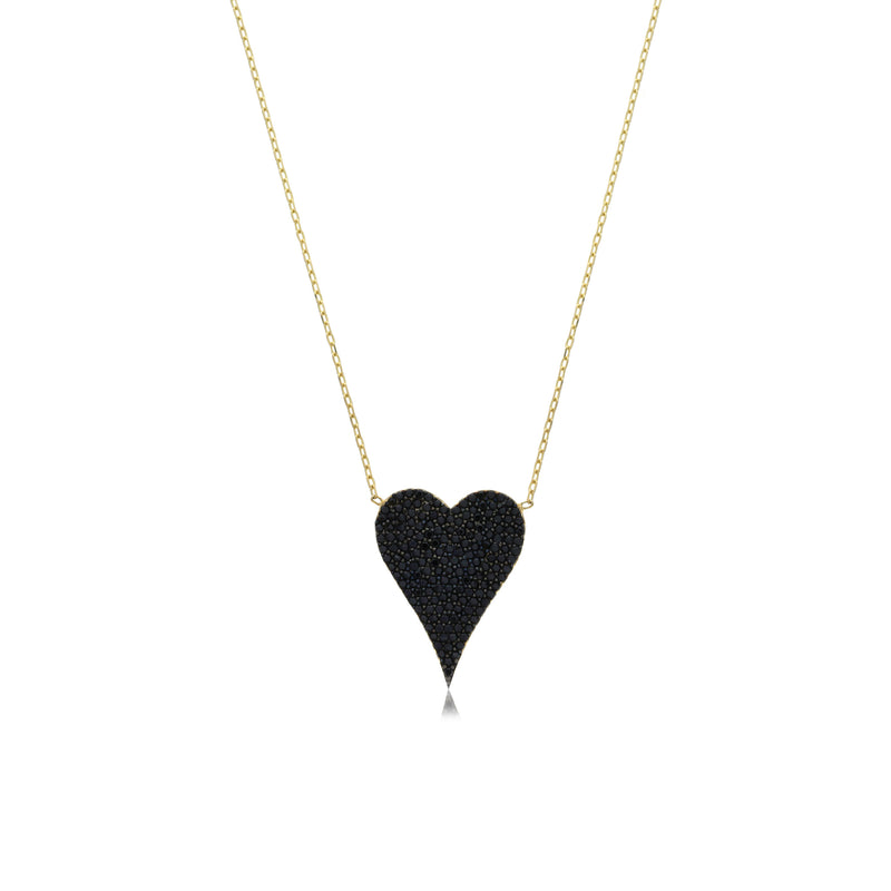 Cz Heart Necklace - essentialsjewels.com