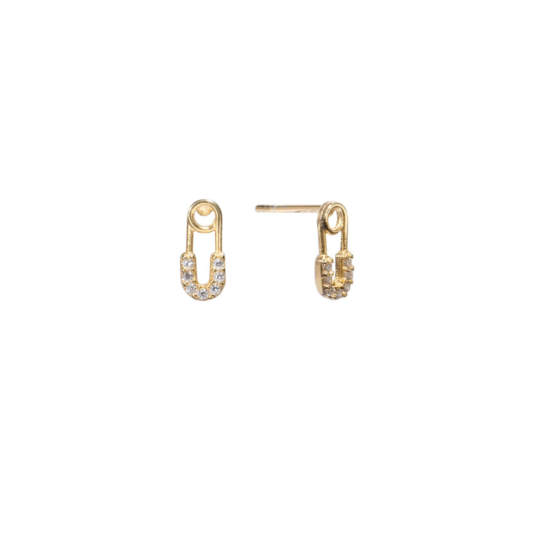 Baby Safety Pin Studs - essentialsjewels.com