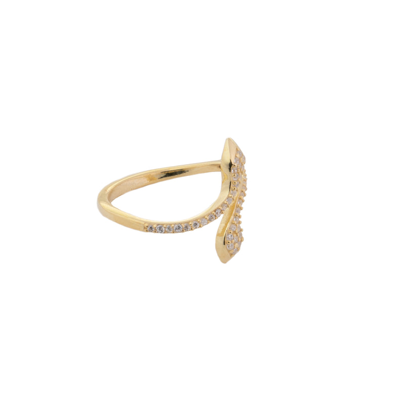 Cz Snake Ring - essentialsjewels.com