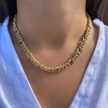 Load image into Gallery viewer, Thick Figaro Chain Necklace - essentialsjewels.com
