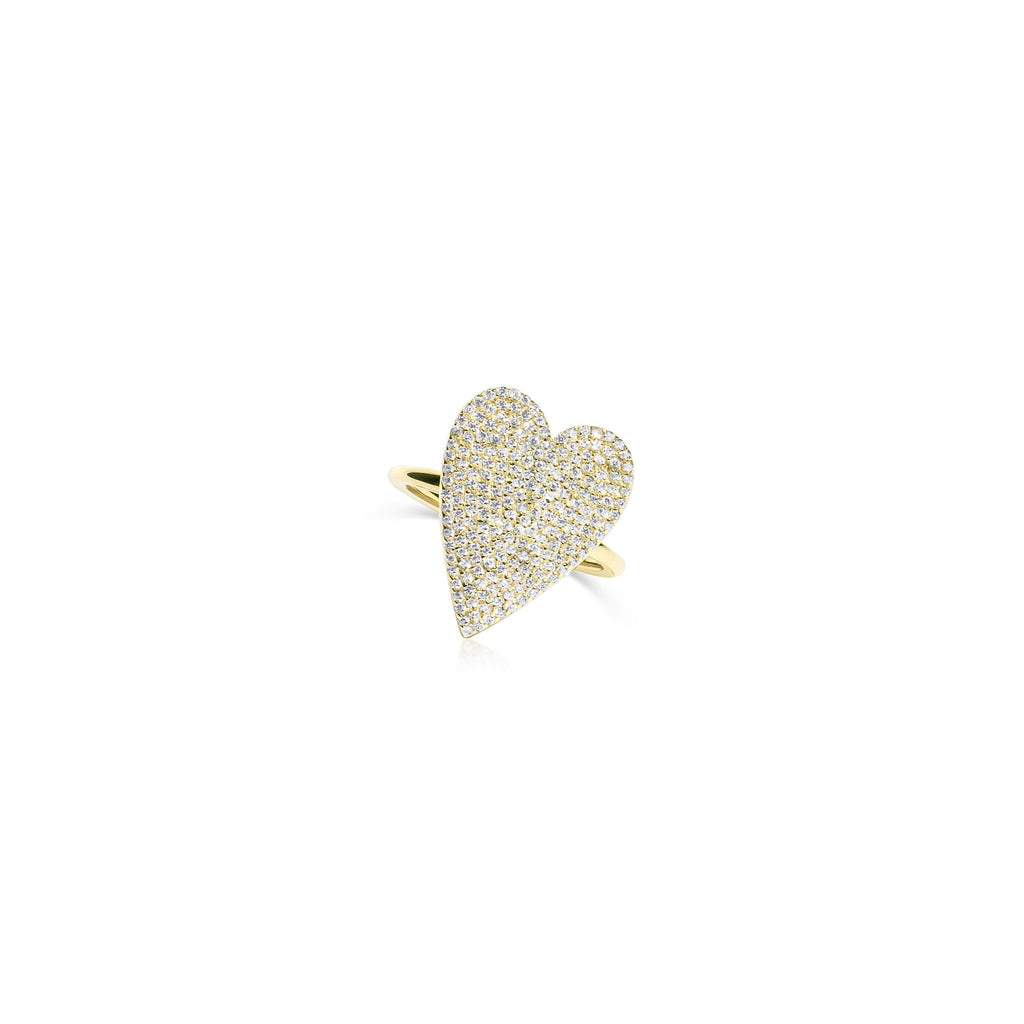 Pave Heart Ring - essentialsjewels.com