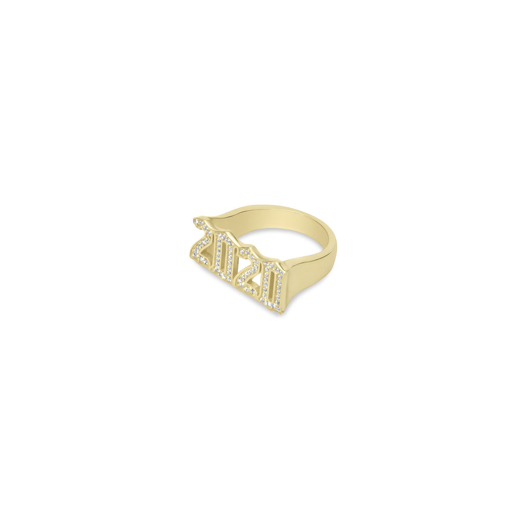 Pave Year Ring - essentialsjewels.com