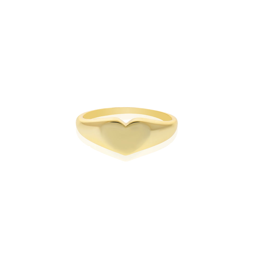 Heart Signet Ring - essentialsjewels.com