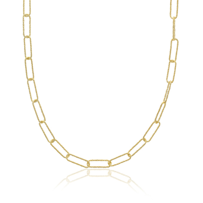 Golden Paperclip Necklace - essentialsjewels.com