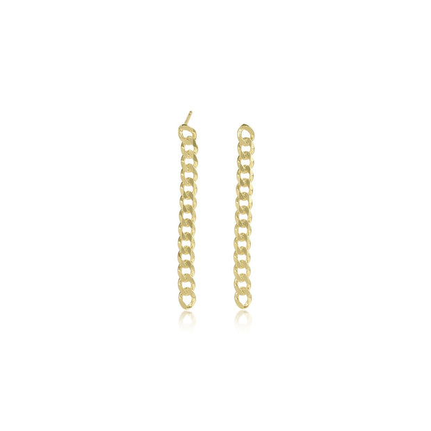 Cuban Chain Earrings - essentialsjewels.com