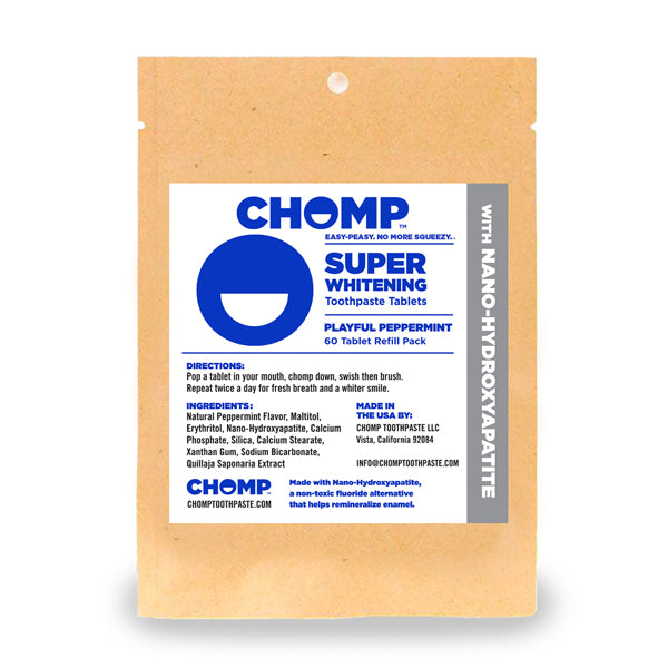 Chomp Super Whitening  Toothpaste Tablets with Nano Hydroxapatite Refill