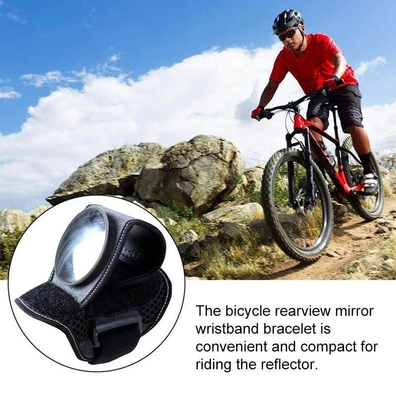 BICYCLE WRIST SAFETY REARVIEW MIRROR
