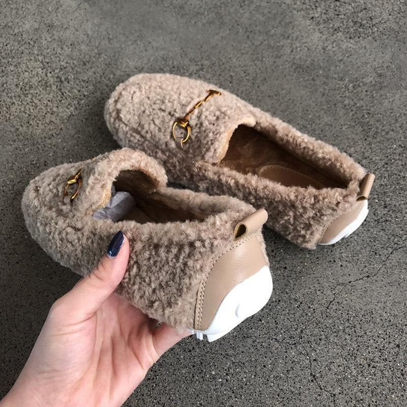 Cute Furry Ankle Snowboots