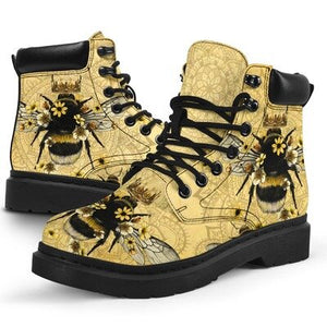 Fashion Queen Bee Printed Boots