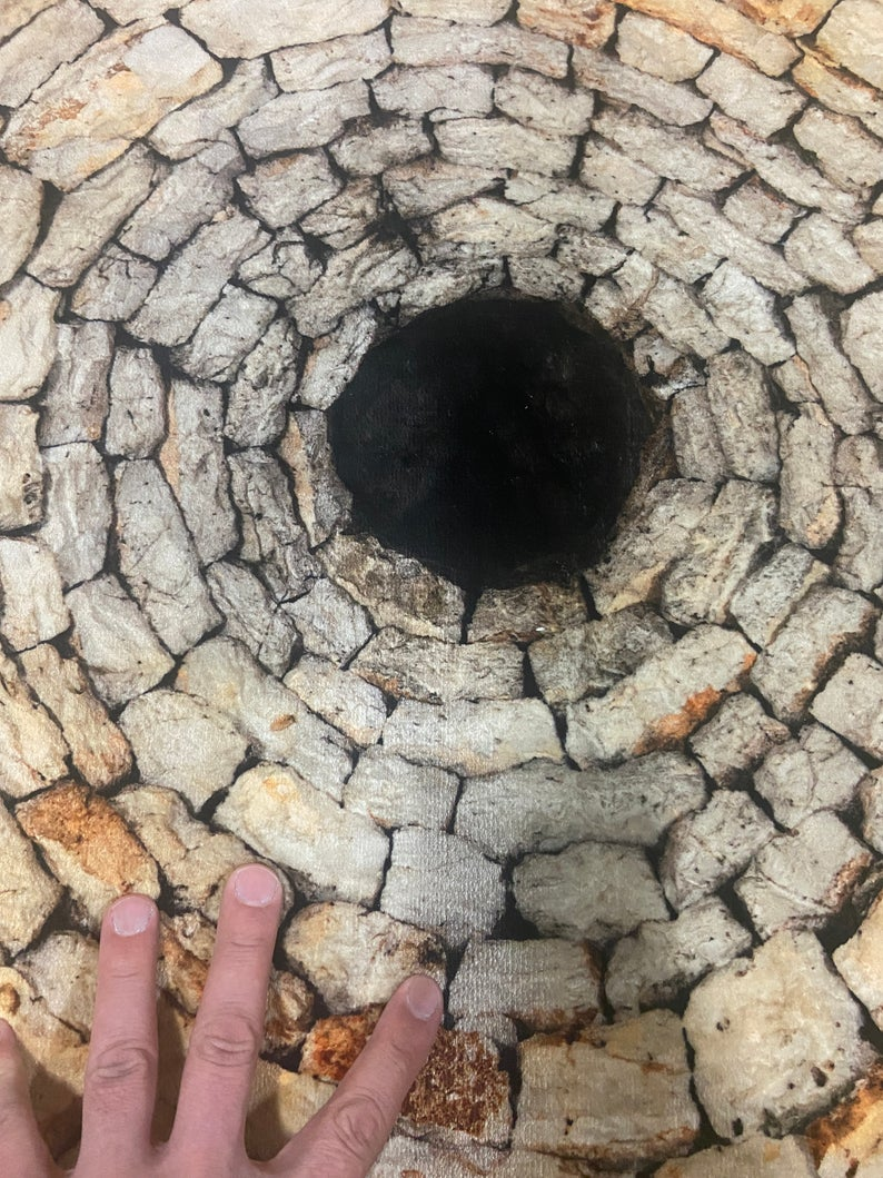 3D Infinite Brick Hole Rug
