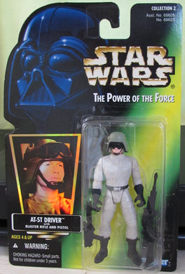 StarWars POTF Green Card - AT-ST Driver - with Hologram Sticker