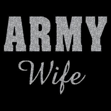 Army Wife 0n Black Baby Doll Tee OR Ultra Cotton Ladies Tee