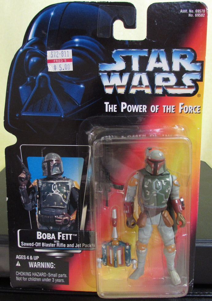 StarWars Power of the Force Red Card Boba Fett