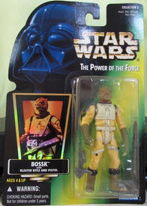 StarWars POTF Green Card - Bossk with Hologram Sticker
