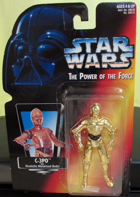 StarWars Power of the Force Red Card C-3P0