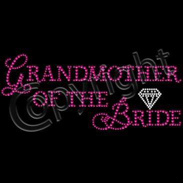 GrandMother of the Bride in Pink RhineStuds & Diamond