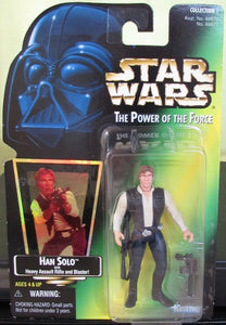StarWars POTF Green Card - Han Solo with Hologram Sticker