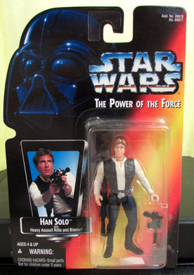 StarWars Power of the Force Red Card Han Solo