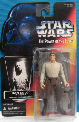 StarWars Power of the Force Red Card Han Solo in Freezing Chamber