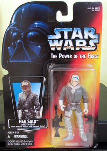 StarWars Power of the Force Red Card Han Solo in Hoth Gear