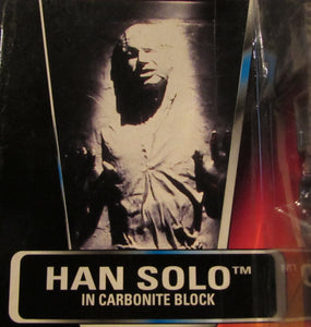StarWars Power of the Force Red Card Han Solo in Carbonite Block