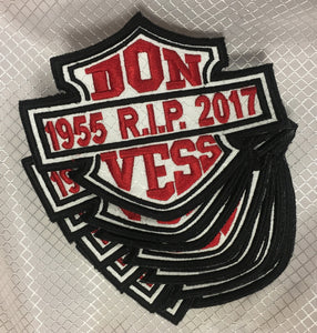 Black and White Don Vess Embroidered Patch