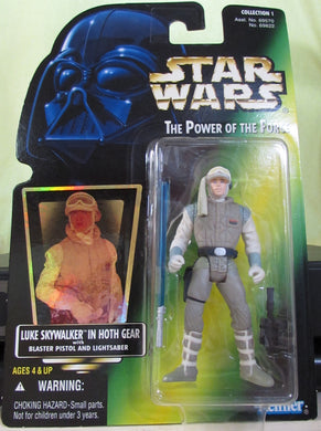 StarWars POTF Green Card - Luke In Hoth Outfit with Hologram Sticker