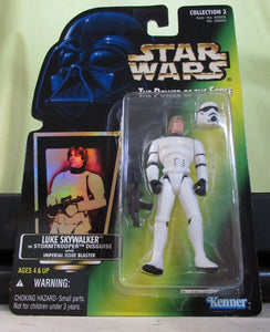 StarWars POTF Green Card - Luke in Storm Trooper Outfit with Hologram Sticker