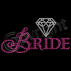 Bride In Pink Rhinestuds with Diamond