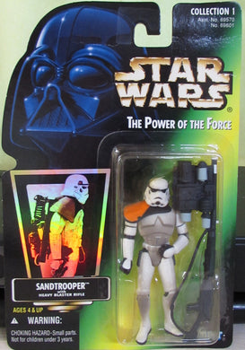 StarWars POTF Green Card - Sand Trooper - With Hologram Sticker