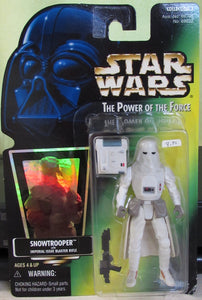 StarWars POTF Green Card - Snow Trooper - With Hologram Sticker