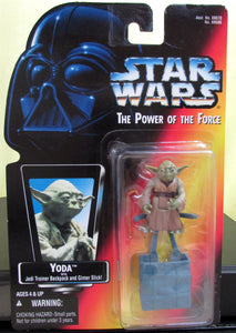 StarWars Power of the Force Red Card Yoda