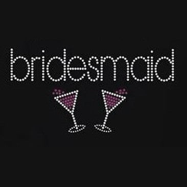 Bridesmaid with Champagne Glasses