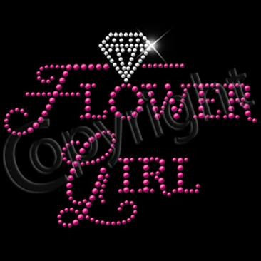 Flower Girl In Pink Rhinestuds with Diamond