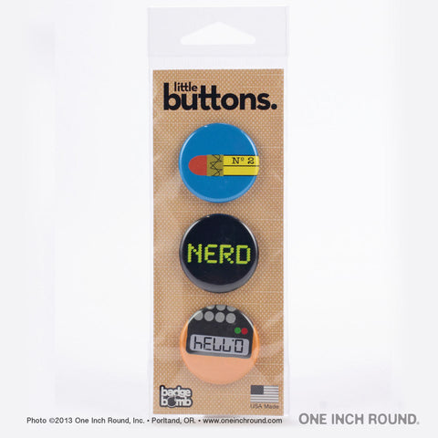 "1.25"" Button Pack with 3 Buttons"