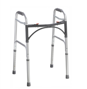 Deluxe Folding Walker, Two Button
