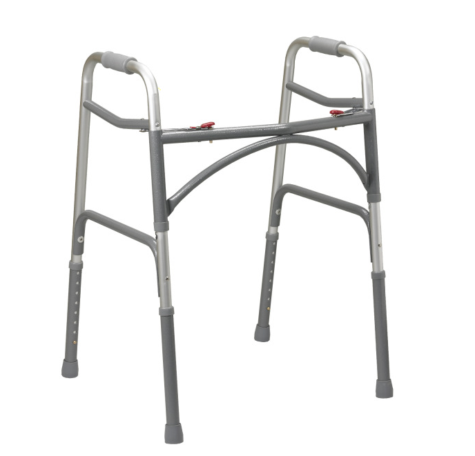 Bariatric Aluminum Folding Walker- Two Button