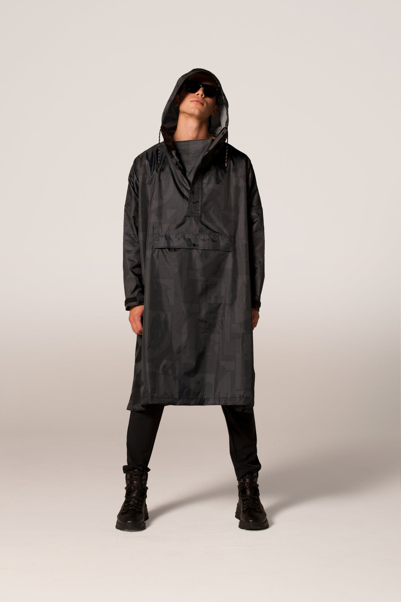 Back to Black Art Camo (pre-order) - Rain Poncho