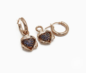 Self Love Pave Blue Sapphire Cluster Earrings