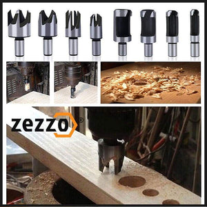 Wood Plug Drill Set