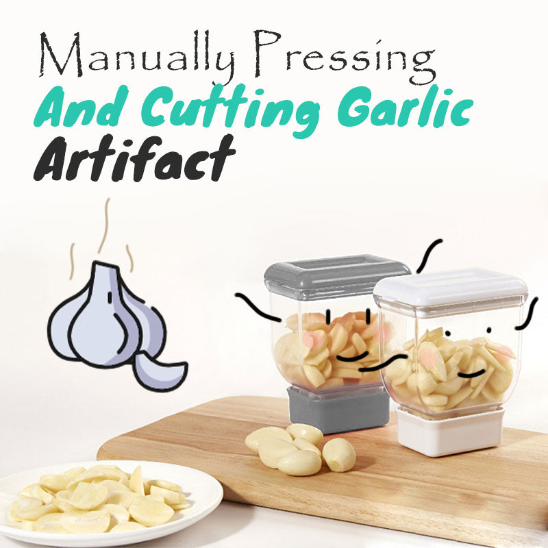 Manually Pressing And Cutting Garlic Artifact