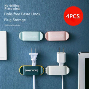 4 Pack Plug Cable Holder Clips