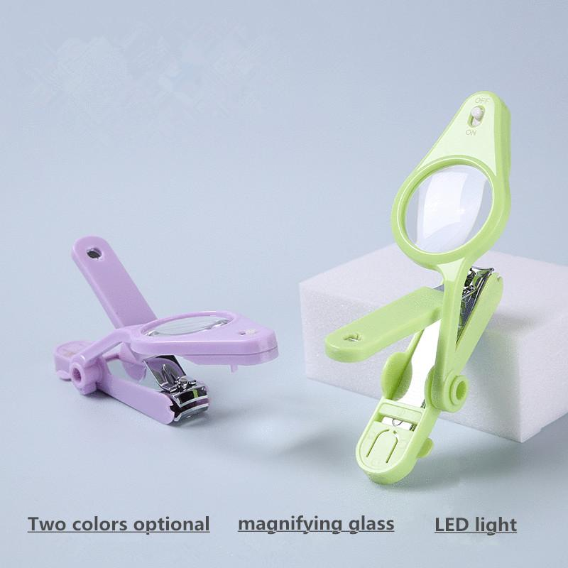 LED Light Magnifying Glass Nail Scissors