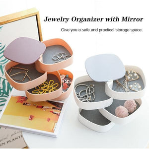 Rotating Jewelry Box With Mirror