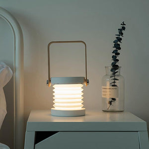 Portable Lantern Lamp With Wooden Handle