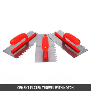 Cement Flaten Trowel With Notch
