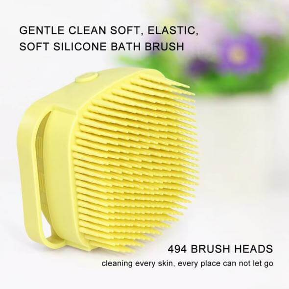 Silicone Bath Massage Soft Brush - Soft Silicone Shower Brush, Fit for All Kinds of Skin