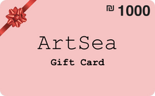 Load image into Gallery viewer,  ILS 1000 ArtSea Gift Card for art and crafts workshops in Tel Aviv Area